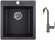 Мойка кухонная Granula GR-4201 + смеситель 35-05 (графит) -