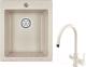 Мойка кухонная Granula GR-4201 + смеситель Spring 35-09L (пирит) -