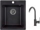 Мойка кухонная Granula GR-4201 + смеситель 35-05 (черный) -
