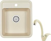 Мойка кухонная Granula GR-4202 + смеситель 40-03 (брют) -