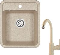 Мойка кухонная Granula GR-4202 + смеситель 35-05 (классик) -