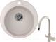 Мойка кухонная Granula GR-4801 + смеситель Spring 35-09L (антик) -