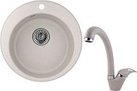 Мойка кухонная Granula GR-4801 + смеситель 40-03 (антик) -