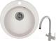 Мойка кухонная Granula GR-4801 + смеситель Spring 35-09L (арктик) -