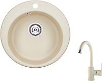 Мойка кухонная Granula GR-4801 + смеситель 35-05 (брют) -