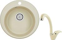 Мойка кухонная Granula GR-4801 + смеситель 40-03 (брют) -
