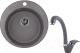 Мойка кухонная Granula GR-4801 + смеситель 40-03 (графит) -