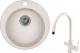 Мойка кухонная Granula GR-4801 + смеситель Spring 35-09L (пирит) -