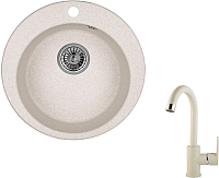 Мойка кухонная Granula GR-4801 + смеситель 35-05 (пирит) -
