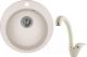Мойка кухонная Granula GR-4801 + смеситель 40-03 (пирит) -