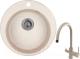 Мойка кухонная Granula GR-4801 + смеситель Spring 35-09L (классик) -