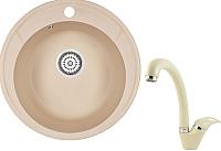 Мойка кухонная Granula GR-4802 + смеситель 40-03 (брют) -