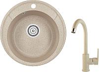 Мойка кухонная Granula GR-4802 + смеситель 35-05 (классик) -