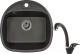 Мойка кухонная Granula GR-5050 + смеситель GR-4003 (черный) -