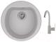 Мойка кухонная Granula GR-5101 + смеситель 35-05 (базальт) -