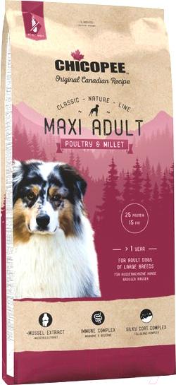 Купить Корм для собак Chicopee, CNL Maxi Adult Poultary & Millet (15кг), Канада
