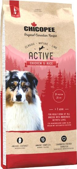 Купить Корм для собак Chicopee, CNL Active Chicken & Rice (15кг), Канада