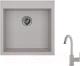 Мойка кухонная Granula GR-5102 + смеситель 35-05 (базальт) -