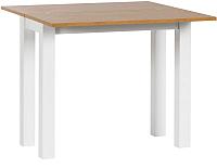 Обеденный стол Atreve Flip-Flop 60x40(80) (дуб/белый) -