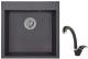 Мойка кухонная Granula GR-5102 + смеситель 40-03 (черный) -