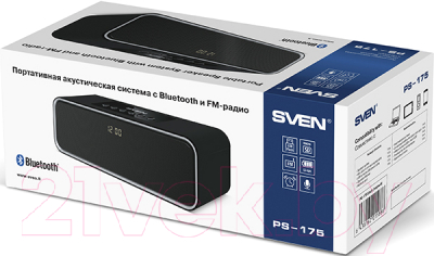 Портативная колонка Sven PS-175 (черный)