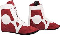 Обувь для самбо RuscoSport SM-0101 (красный, р-р 40) -