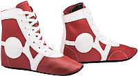 Обувь для самбо RuscoSport SM-0102 (красный, р-р 36) -