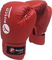 Боксерские перчатки RuscoSport 8oz (красный) -