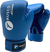 Боксерские перчатки RuscoSport 8oz (синий) -
