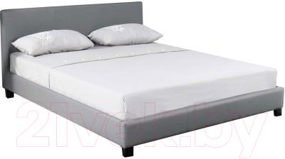 Atreve Nelly серыйэкокожа двуспальная кровать купить в минске