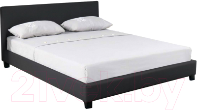 Atreve Nelly черныйэкокожа двуспальная кровать купить в минске