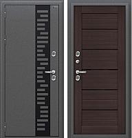 Входная дверь el'Porta Оптим Термо 222 Wenge Veralinga (96x205, левая) -