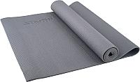 Коврик для йоги и фитнеса Starfit FM-101 PVC (173x61x1.0см, серый) -