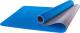 Коврик для йоги и фитнеса Starfit FM-201 TPE (173x61x0.4см, синий/серый) -