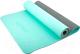 Коврик для йоги и фитнеса Starfit FM-201 TPE (173x61x0.6см, мятный/серый) -