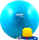 Фитбол гладкий Starfit GB-102 75см с насосом (синий) -