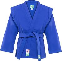 Куртка для самбо Green Hill JS-302 (р-р.3/160, синий) -