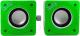Мультимедиа акустика CBR Simple S27 (зеленый) -