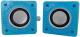 Мультимедиа акустика CBR Simple S27 (синий) -