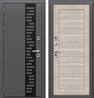 Входная дверь el'Porta Оптим Термо 222 Cappuccino Veralinga (96x205, левая) -