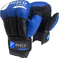Перчатки для рукопашного боя RuscoSport Синий кожзам (р-р 12) -