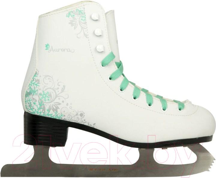 Коньки фигурные Ice Blade, Aurora (р-р 33), Россия, белый, иск. кожа  - купить со скидкой