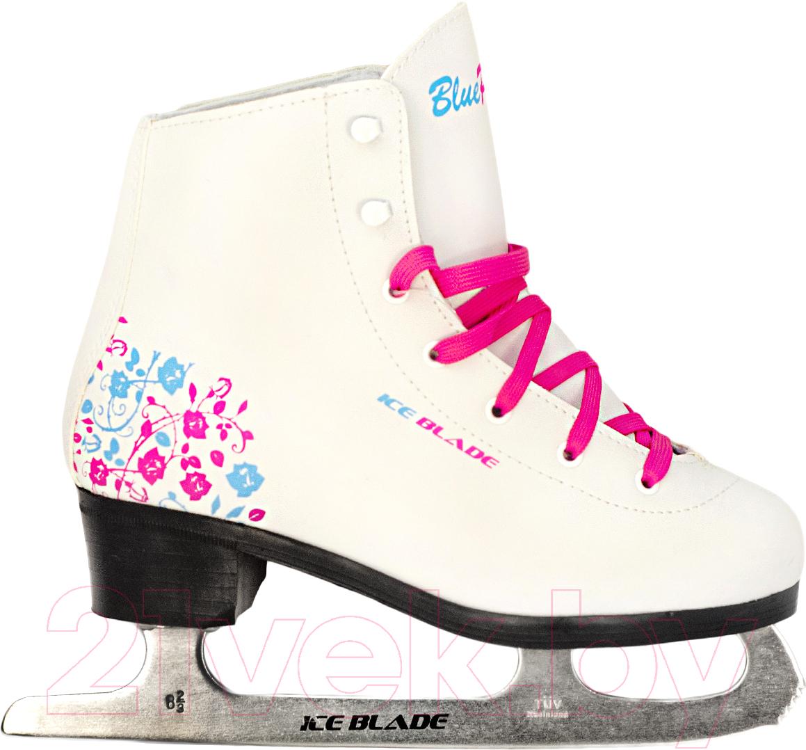 Купить Коньки фигурные Ice Blade, BluePink (р-р 32), Россия, белый, иск. кожа