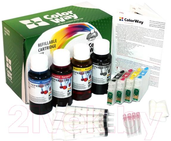Купить Комплект картриджей ColorWay, SX130RC-4.1, Китай, черный