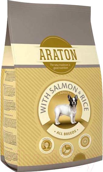 Купить Корм для собак Araton, Adult Salmon & Rice / ART44785 (3кг), Литва