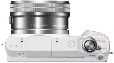 Беззеркальный фотоаппарат Sony NEX-3NLW - вид сверху