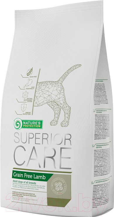 Корм для собак Nature's Protection, Superior Care Grain Free Lamb / KIK45275 (17кг), Литва  - купить со скидкой