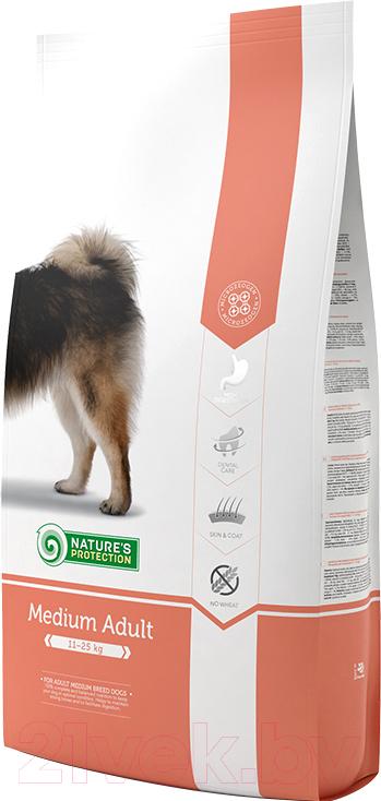 Купить Корм для собак Nature's Protection, Adult Medium / NPS24321 (12кг), Литва
