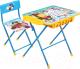Комплект мебели с детским столом Ника КУ2П/2 Маша и Медведь: Азбука 2 -