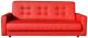 Диван ЛМФ Аккорд книжка 120 (экокожа/красный) -